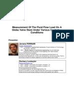 Measurement of the Fluid - Globe Valve