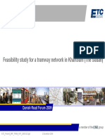 Feasibility Study for a Tramway Network in Khartoum (the Sudan)