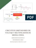Circuitos Limitadores de Voltaje y Rectificador de Media Onda