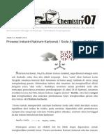 Chemist07 Prosess Industri Natrium Karbonat Soda Ash Atau Na2SO4