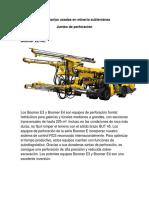 Maquinarias Usadas en Minería Subterráne1