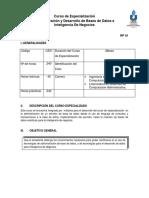 Administración y Desarrollo de Bases de Datos e Inteligencia de Negocios
