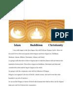 islam   buddhism  christianity 1
