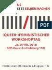 Feministischer Workshoptag Flyer a5