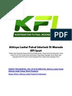 Ahlinya Lantai Futsal Interlock Di Manado KFI Sport