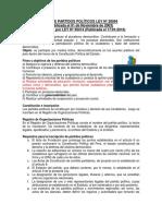 Ley de Partidos Políticos Ley Nº 28094