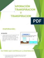 Evaporación Transpiracion y Evopotranpiracion Ppts