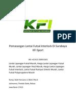 Pemasangan Lantai Futsal Interlock Di Surabaya KFI Sport