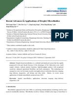 Review Recent Advances in Applications of Droplet Microfluidics.pdf