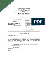 CA-G.R. CV No. 100076 Marelyn Tanedo Manalo vs People