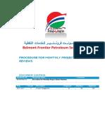 BA-PE-PSR-215 Belmont Frontier Procedure for Monthly Project Status Reviews