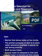 299823870-Site-Selection-for-Dams-Reservoirs-Original.ppt