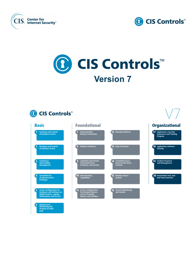 CIS Controls Version 7 | Computer Security | Online Safety & Privacy