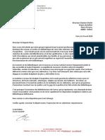 Courrier de l'ABF au maire de Belfort