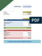 Academic Club Budget FR