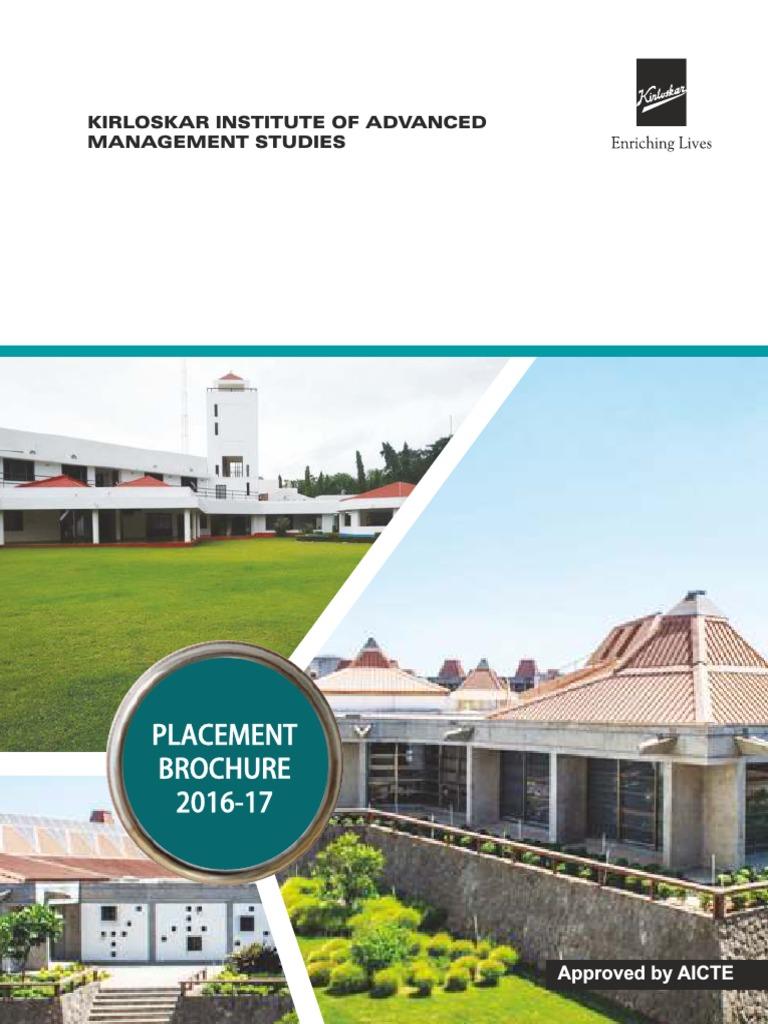 Placement Brochure 2016 17 Human Resource Management