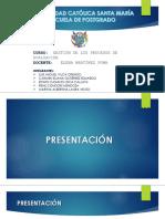 Lectura, Análisis y Síntesis de Las Categorías de La Evaluación