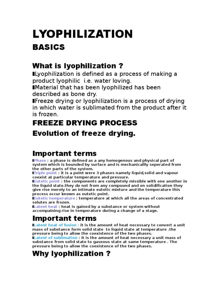 Lyophilization Basics | Freeze Drying | Phase (Matter)