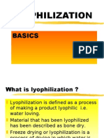 Lyophilization details