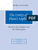 The Unity of Plato s Sophist Between the Sophist and the Philosopher