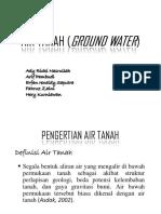 Air Tanah (Ground Water)