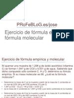 formula molecular y empiica