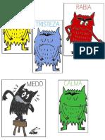Mostruo de Colores Personajes