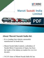 Maruti Suzuki a complete presentation