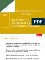 UPM SU7 - Assignment B Guidance Marketing Mix Intro