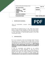 Plan de Estudio de Castellano_2018