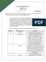 Cape Chemistry Unit II Worksheet 2