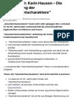 "Thesenblatt Hausen – Polarisierung der ""Geschlechtscharaktere"""