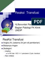 Reaksi Transfusi(Indonesia)