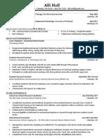 hall resume final