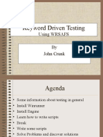 Keyword Driven Testing