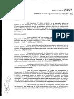 Resolución nº 2352-13-Técnico Superior en Periodismo