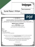 Contoh Undangan Sunat Rasul Atau Undangan Khitanan Dengan Microsoft Word-G-Tekno