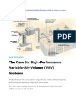High Performance VAV Single Duct System