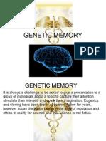 20209614 Genetic Memory