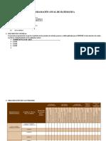 Programación Anual - Plantilla