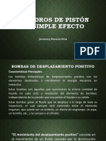Bombas de Piston de Simple Accion