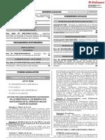 Ley que declara Defensores Calificados de la Democracia a los mineros que participaron en el Operativo Militar Chavín de Huántar