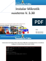 Nivel 1.- Manual Para Instalar Mikrotik