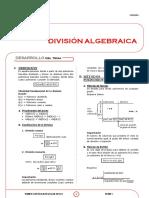 X_1 - DIVISION ALGEBRAICA