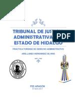 Tribunal de Justicia Administrativa del Estado de Hidalgo, facultades, fanciones(Tesina)