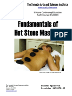 EMS003 Fundamentals of Hot Stone Massage
