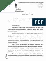 Certificados de Fabricación Electrónicos. Disp 117 de 2014 Certif Electrónico
