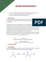 Lab Nro 1 Diseño Obt Del Acetato de Etilo