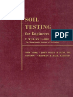 Soil Testing for Engineers by T.willam Lambe