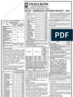 Vijaya Bank Jobs Vacancies Notifications